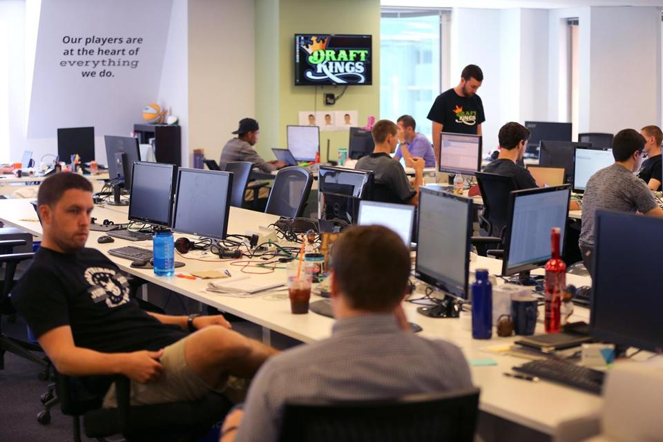 Boston--07/24/15 Draft Kings behind the scenes in the office. Globe staff photo by John Tlumacki(business)